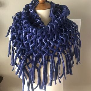 Fraas Crochet Purple Blue Infinity Scarf